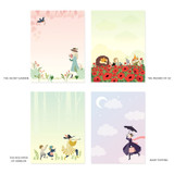 Option - World literature illustration sticky memo notepad