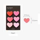 Size - Heart small sticky notes memo notepad for planner