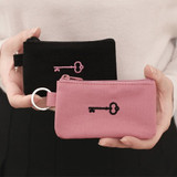2NUL Treasure small cotton zipper pocket with key ring