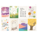 I - Life and pieces postcard collection set