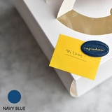 Navy blue - Feel so good leather seal deco sticker
