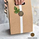 French brown - Feel so good leather seal deco sticker