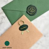 Deep green - Feel so good leather seal deco sticker