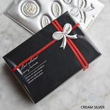 Cream silver - Feel so good leather seal deco sticker