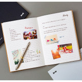 Example of use - B+W kraft hardcover lined notebook