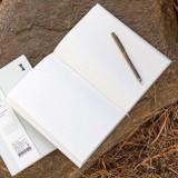 Ruled notebook - Ardium B+W kraft hardcover lined notebook