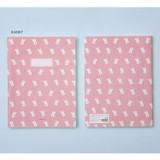 Rabbit - Ardium Soft pattern extra large lined school notebook