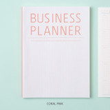 Coral pink - Ardium Business 3 months dateless daily planner ver3