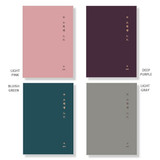 Color - Small but certain happiness hardcover 3mm lined notebook