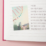 Example of use - Small but certain happiness hardcover 7.2mm lined notebook