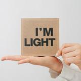 I'm Light small plain notebook