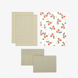 Composition - Dailylike Daily letter paper and envelope set - Cherry