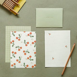 Dailylike Daily letter paper and envelope set - Cherry