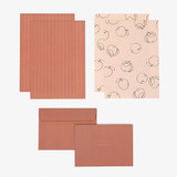 Composition - Dailylike Daily letter paper and envelope set - Plain apple