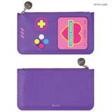 Retro game - After The Rain Retro PU flat zipper pouch