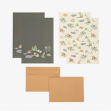 Composition - Daily letter paper and envelope set - The fox and the grapes