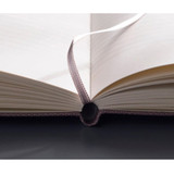 Ribbon bookmark - Record Remember Tomorrow small hardcover lined notebook