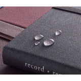 Water resistant - Record Remember Tomorrow small hardcover lined notebook