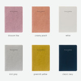 Color - The way of expressing blank and lined notebook