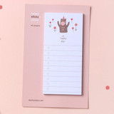 Dash and Dot Happy checklist sticky notepad memo