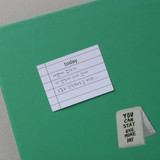 Example of use - Dots and angle memo notes sticky notepad