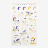 Daily transparent clear deco cute sticker - Unicorn