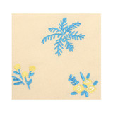 Dailylike Embroidery rectangle fabric zipper pouch - Flower shop