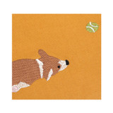 Embroidery rectangle fabric zipper pouch - Welsh corgi