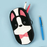 Dog - Antenna Shop Boucle canvas zipper pen case pouch