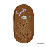 Curly poodle- Antenna Shop Boucle canvas zipper pen case pouch