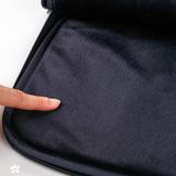 Inner faux fur - boucle canvas iPad laptop pouch case