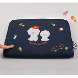 Extra cushion - boucle canvas iPad laptop pouch case