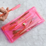 Play obje Feel so good shine pencil case pouch with pencil cap