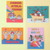 Ardium Pop illustration message card envelope set