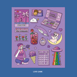 Love game - Ardium Pop illustration colorful point paper deco sticker