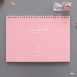 Pink - PAPERIAN Believe time tracker spiral dateless study planner