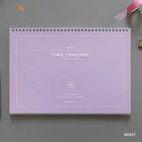 Violet - PAPERIAN Believe time tracker spiral dateless study planner