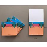Size of Memowang bench illustration memo notepad