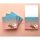 Size of Memowang brunch illustration memo notepad