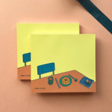 Memowang desk illustration memo notepad