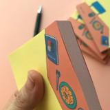 Detail of Memowang desk illustration memo notepad