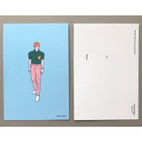 Front and Back - CommaB pastel illustration postcard