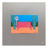 01 - CommaB retro illustration postcard