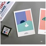 04 - CommaB analog and modern illustration postcard