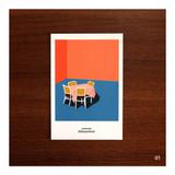 01 - CommaB analog and modern illustration postcard
