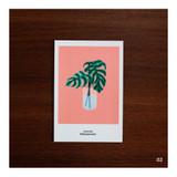 02 - CommaB analog and modern illustration postcard