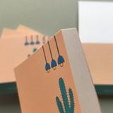 Detail of Memowang cactus illustration memo notepad