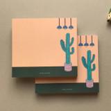 Memowang cactus illustration memo notepad
