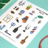Oh my vintage illustration deco sticker set 01