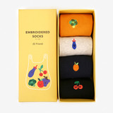 Package - Dailylike Friends embroidered women socks set